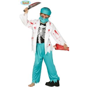 Childs Halloween Zombie Doctor Surgeon Costume