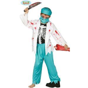 Childs Halloween Zombie Doctor Surgeon Costume