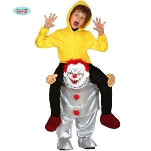 Childs Let Me Go Piggy Back Killer Clown Costume