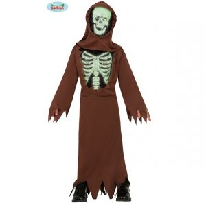 Brown Skeleton Reaper Costume