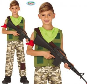 Childs Game Character Soldier Costume