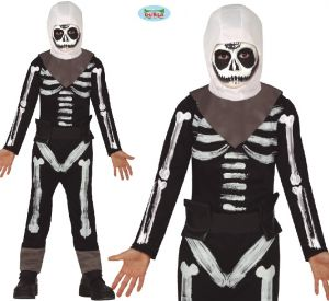 Childs Game Character Skeleton Soldier Costume