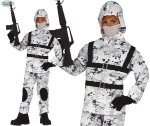Childs Arctic Soldier Sniper Costume