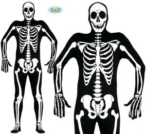 Mens Halloween Skeleton Second Skin Costume