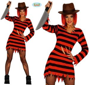 Ladies Halloween Miss Knife Hands Costume