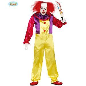 Mens Halloween 90s Killer Clown Costume