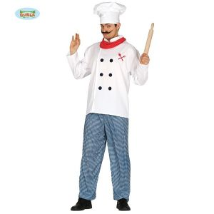 Mens Chef Cook Fancy Dress Costume