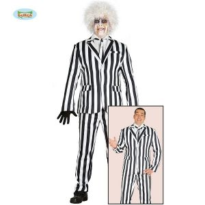 Halloween Striped Crazy Ghost Suit Costume