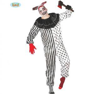Mens Halloween Pierrot Clown Costume