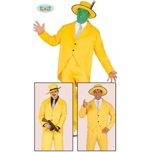 Men's Yellow Gangster The Mask Costume