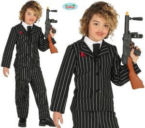 Childrens Gangster Boy Fancy Dress Costume