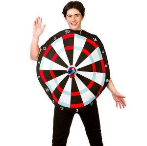 Mens Dartboard & Darts Costume