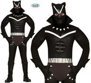 Mens Black Cat Superhero Costume