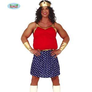 Mens Chubby Wonder Superhero Costume