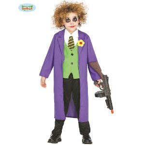 Kids Halloween Crazy Jester Villain Costume
