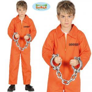 Childrens Orange Prisoner Convict Costume