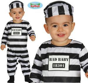 Bad Baby Prisoner Inmate Fancy Dress Costume