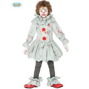 Childs Grey Killer Clown Costume
