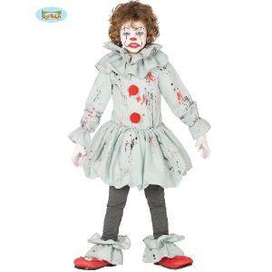 Childs Grey Killer Clown Costume