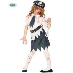Halloween Zombie Police Girl Costume