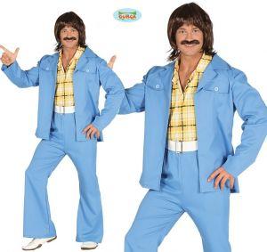 Mens 1970s Disco Man Suit Costume