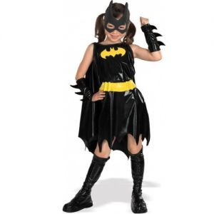Childrens Batgirl Fancy Dress Costume - S, M & L