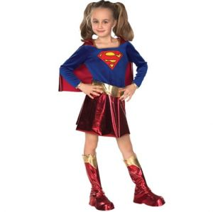 Childrens Supergirl Fancy Dress Costume - S, M & L