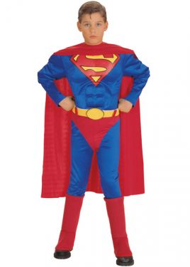 Childrens Muscle Superman Fancy Dress Costume