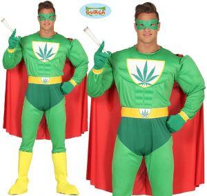 Mens Marijuana Man Superhero Costume
