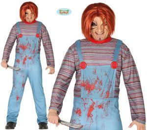 Mens Halloween Killer Doll Costume