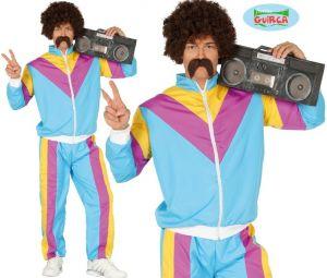 Mens 1980s Scouser Shell Suit Costume