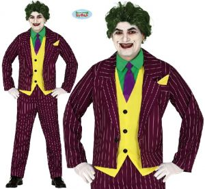 Mens Crazy Villain fancy dress Costume