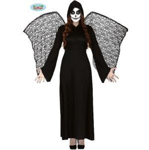 Ladies Halloween Winged Dead Angel Costume