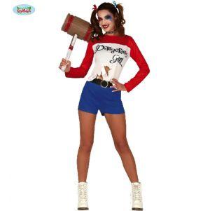 Ladies Halloween Crazy Dangerous Girl Costume