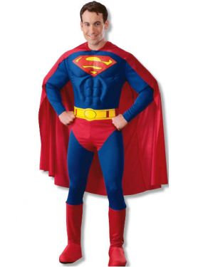 Mens Superhero Deluxe Superman Costume