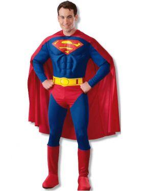 Mens Superhero Deluxe Superman Costume
