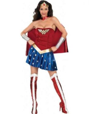 Ladies Wonder Woman Costume with Cape