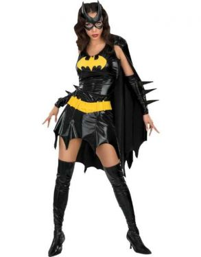 Ladies Sexy Batgirl Costume with Cape