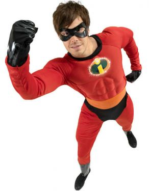 Superhero Fancy Dress Mr Incredible Costume