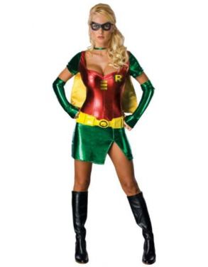 Ladies Sexy Robin Costume with Cape