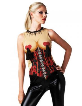 Ladies Fancy Dress - Sexy Burlesque Top