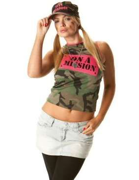 Arm Sexy On A Mission Top with Print - S, M & L