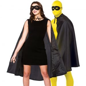 Adult Superhero Cape Kit - Black