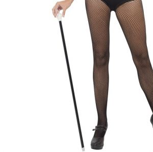 20s Fancy Dress Dance Cane - Black/White