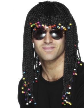 80s Fancy Dress - Braided & Beaded Wig - Stevie