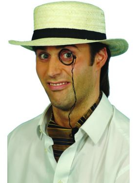 Fancy Dress Straw Boater Hat