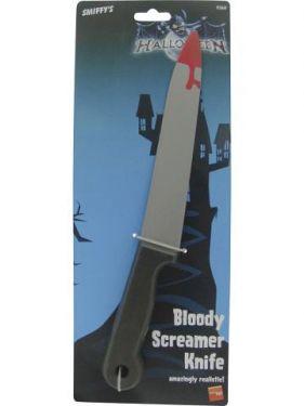 Halloween Fake Screamer Knife