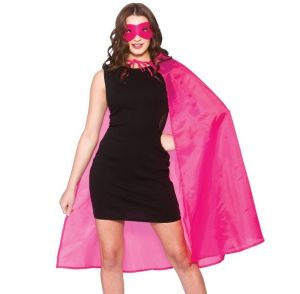 Ladies Superhero Cape Kit - Hot Pink