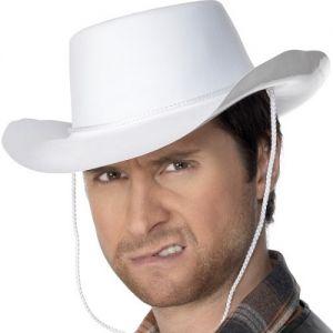 Cowboy Fancy Dress Hat - White