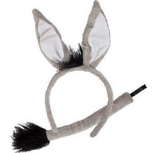 Donkey Set - Ears on band & Tail